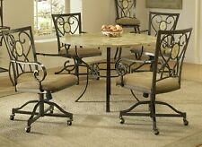 Hillsdale Brookside 1 Piece Oval Caster Rolling Scrolled Chair - ONE CHAIR ONLY