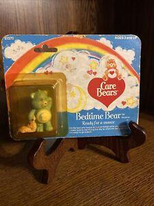 Vintage 1984 Care Bears Bedtime Bear, Ready For A Snooze, Mini Figurine