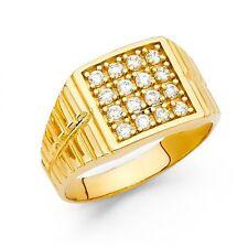 14K yellow gold Square signet ring EJRG1553