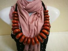 Moroccan vintage Handcrafted Jewelry. Berber amber necklace,strand Amber