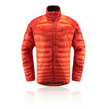 Haglofs Mens Essens Down Jacket Top - Orange Sports Outdoors Full Zip Warm