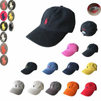 NWT Polo Cap Baseball Cotton Strap Pony Classic Adjustable Men & Women Golf Hat
