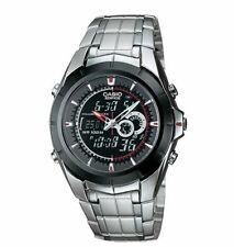 Casio Edifice Combo Silvertone Watch, 100 Meter WR, Chronograph, EFA119BK-1AV