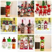 Creative Christmas Wine Bottle Wrap Bag Cover Santa Claus Wedding Party Decor