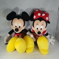 "Disney Parks Plush Mickey Minnie Mouse Red Polka Dot 18"" Toy Doll"