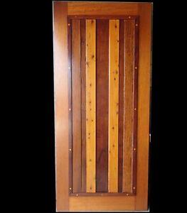 Wooden Entry Door / Medieval / Diamond features mix Hardwood Timber NEW 2040x920