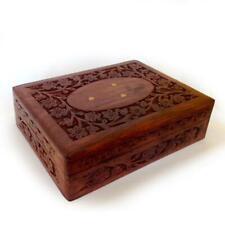 Ornate Vintage Carved Solid Wooden Box Range