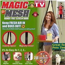 Magic Mesh Easy Hands-Free Magnetic Door Screen Anti Mosquito Bug Net Curtain