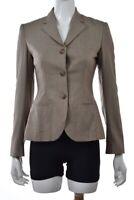 NEW Ralph Lauren Black Label Womens Blazer Size 2 Beige Wool Career Jacket