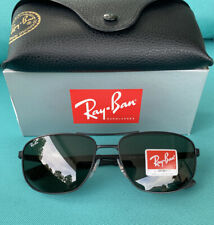 """""""NEW"""" RAY-BAN RB3528 - 006/71 Sunglasses Matte Black / Green 61mm  Authentic"""