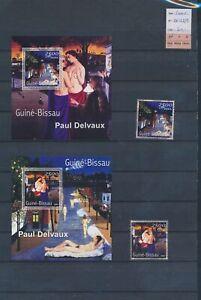 XC89683 Guinea-Bissau 2001 Delvaux art sheets XXL MNH cv 60 EUR