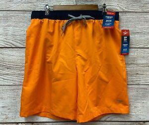 "Speedo Swim Trunks Shorts Mens Size XL Orange Solid Volley 20"" Trunk Shorts New"