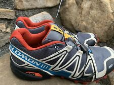 Mens Salomon Soeed Cross 3 Trail Running Shoes Size 8.5M /42 Gray Fitness ECU