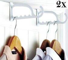 Pack of 2 Over The Door Hook Plastic Clothes Coat Bags Hanger Storage Rack Pack