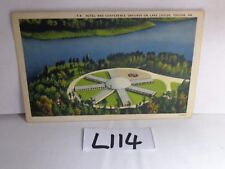 VINTAGE UNPOSTED POSTCARD LINEN 1930'S TOCCOA GA LAKE LOUISE HOTEL-CONFERENCE