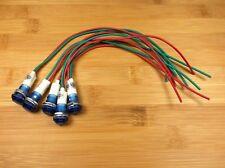 5 BBT 12 volt Waterproof Blue LED Low-Profile Indicator Lights