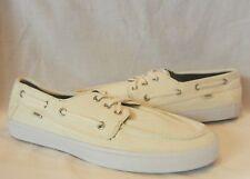 Vans Men's Chauffeur Lace-Up Canvas Surf Siders Boat Shoe Skate Shoes size 12