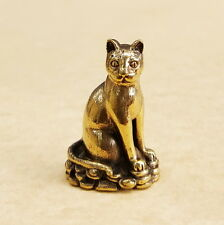 SIAM CAT Lovely Miniature Thai Brass Amulet Magic Holy Rich Wealth Lucky Money