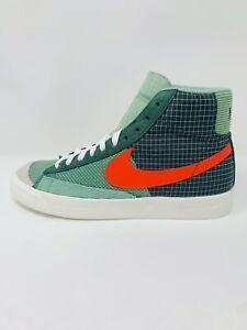 Nike Blazer Mid '77 Patch Mens DD1162-300 Dutch Green Orange Shoes Size 8-9