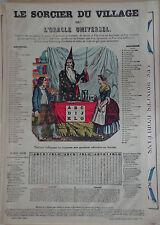 Rare Vintage Imagerie Epinal Pellerin print/Le Sorcier du Village 1880 INV2296