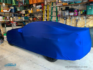 Coverking Impact Blue Satin Stretch Indoor Custom Car Cover for Ford Mustang
