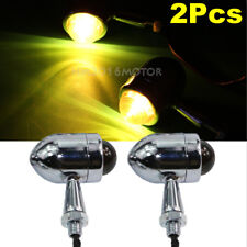Motorcycle Chrome Black Lens Turn Signals Indicator Lights For Suzuki Cruiser