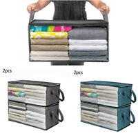 Non-Woven Foldable Storage Box Folding Clothes Blanket Closet Organizer Bag Home