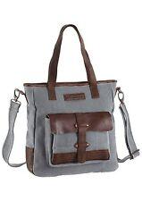 Handtasche Damen Taschendieb Wien Umhängetasche TD0324 Canvas & COW DD Grau