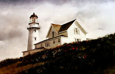 Cape Elizabeth Lighthouse by Douglas Brega Original Watercolor into Fine Print