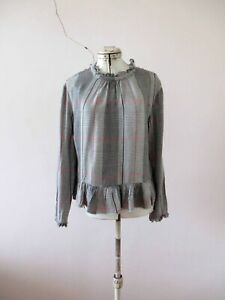 Pimkie Houndstooth Viscose Blouse Small  Buy 3+ Items for FREE Post