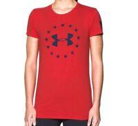 Under Armour womens heatgear Freedom Logo Tee Shirt size M L