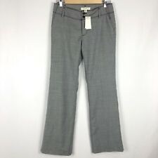 NEW Banana Republic Womens Pants Size 2 Ryan Fit Gray Houndstooth 100% Wool NWT