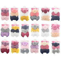 3Pcs Infant Baby Girl Bow Stretch Headband Toddler Turban Knot Hair Band Gifts