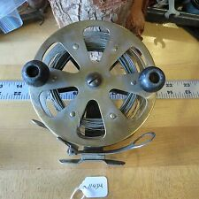 Vintage Antique Brass Salmon trolling fishing reel  C.F.N.T (lot#11434)
