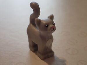 Lego Grey Cat Kitten pet for mini figures   (B192)
