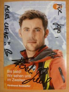 """Ferdinand Seebacher, ZDF Karte """"Die Bergretter"""" (mit Widmung)"""