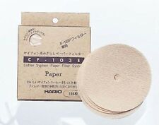 New Hario CF-103E Syphon Paper Filter 100 pcs for F-103P F-103M F-103MN