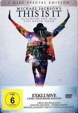 MICHAEL JACKSON - THIS IS IT (2 DVD SPECIAL STEELBOOK EDITION) NEU