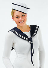 Sailor Girl Fancy Dress 2 Piece Kit Hat and Scarf Navy Uniform