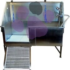 "Emperor PRO Static Stainless 51"" Steel Dog Grooming Bath"