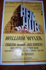 BEN HUR 1969 Heston ACADEMY AWARD MOVIE POSTER