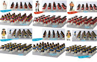 21PCS American Revolutionary War  Coat Mini Figure UK Army Building Block Toy