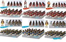 21PCS American Revolutionary War  Coat Mini Figure UK Army Building Block Toy