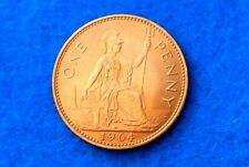 1964 Great Britain Penny - Beautiful Coin Full Luster - See PICS