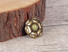 10PC 28MM ANTIQUE BRONZER ROSE FLOWER LEATHER CRAFT WESTERN CONCHOS SCREW BACK