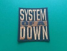 HEAVY METAL PUNK ROCK MUSIC SEW ON / IRON ON PATCH:- SYSTEM OF A DOWN (c) GOLD