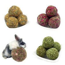 Pet Teeth Chew Grinding Natural Carrot Rose Grass Ball Toys For Hamster Rabbit
