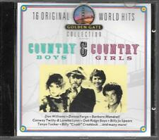 CD COMPIL 16 TITRES--COUNTRY BOYS & COUNTRY GIRLS--FARGO/WILLIAMS/TWITTY/TUCKER