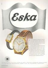 ▬► PUBLICITE ADVERTISING AD MONTRE WATCH DOXA ESKA 1950
