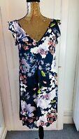 NEXT Floral Shift Mini Dress V neck BNWT RRP£45 UK 8 EUR 36